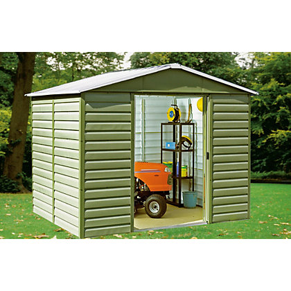 Image for Yardmaster Shiplap Metal Shed - 8ft x 6ft from StoreName