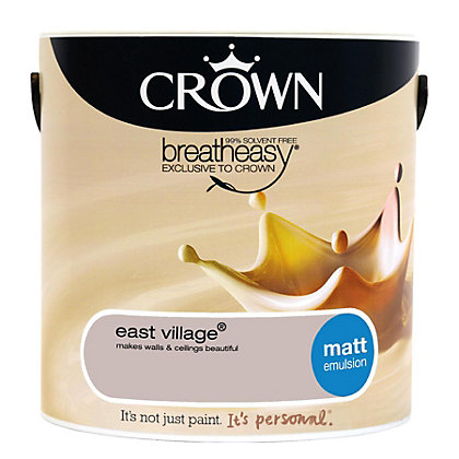 Image for Crown Breatheasy East Village - Matt Standard Emulsion Paint - 2.5L from StoreName