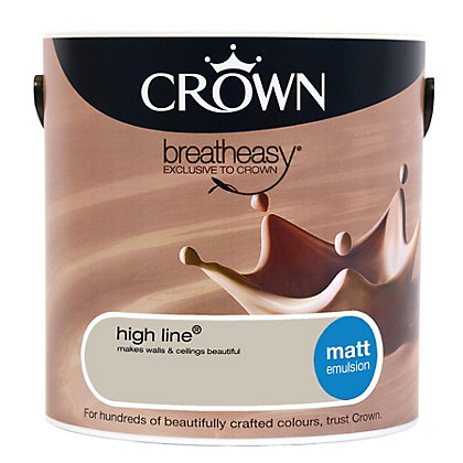Image for Crown Breatheasy High Line - Matt Standard Emulsion Paint  - 2.5L from StoreName