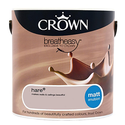 Image for Crown Breatheasy Hare - Matt Standard Emulsion Paint - 2.5L from StoreName