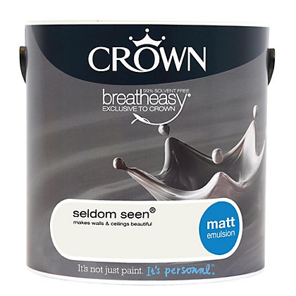 Image for Crown Breatheasy Seldom Seen - Matt Standard Emulsion Paint - 2.5L from StoreName