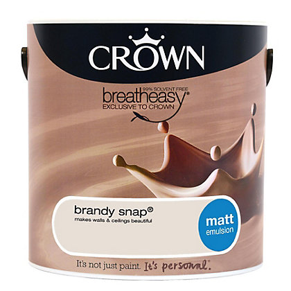 Image for Crown Breatheasy Brandy Snap - Matt Standard Emulsion Paint - 2.5L from StoreName