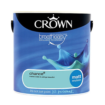 Image for Crown Breatheasy Chance - Matt Standard Emulsion Paint  - 2.5L from StoreName