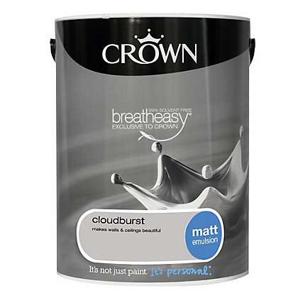 Image for Crown Breatheasy Cloud Burst - Matt Standard Emulsion Paint  - 5L from StoreName
