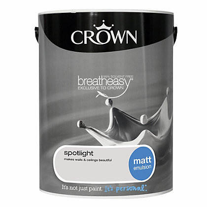 Image for Crown Breatheasy Spotlight - Standard Emulsion Matt Paint  - 5L from StoreName