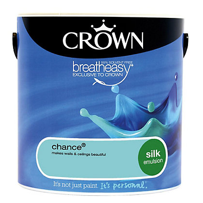 Image for Crown Breatheasy Chance - Silk Standard Emulsion Paint - 2.5L from StoreName