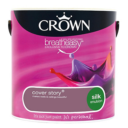 Image for Crown Breatheasy Cover Story - Silk Standard Emulsion Paint - 2.5L from StoreName