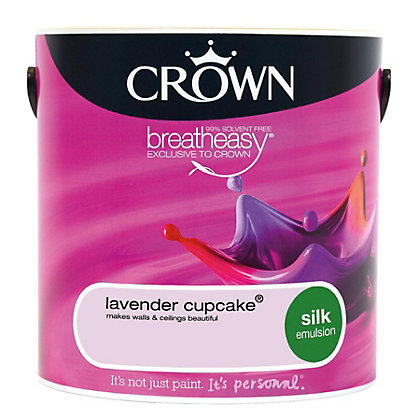 Image for Crown Breatheasy Lavender Cupcake - Silk Standard Emulsion Paint - 2.5L from StoreName