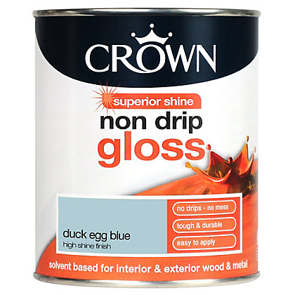 Image for Crown Non Drip Gloss - Duck Egg Blue - 750ml from StoreName