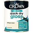 Crown Breatheasy Quick Drying Gloss - Antique Cream - 750ml