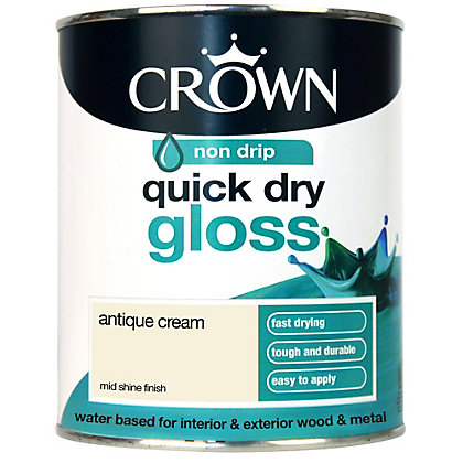 Image for Crown Breatheasy Quick Drying Gloss - Antique Cream - 750ml from StoreName