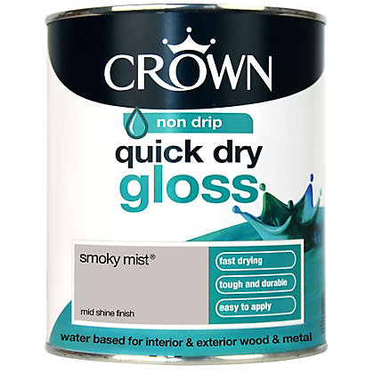 Image for Crown Breatheasy Quick Drying Gloss - Smoky Mist - 750ml from StoreName