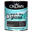 Crown Quick Drying Gloss - Midnight Coal - 750ml