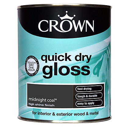 Image for Crown Quick Drying Gloss - Midnight Coal - 750ml from StoreName