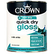 Crown Quick Drying Gloss - Milk White - 750ml