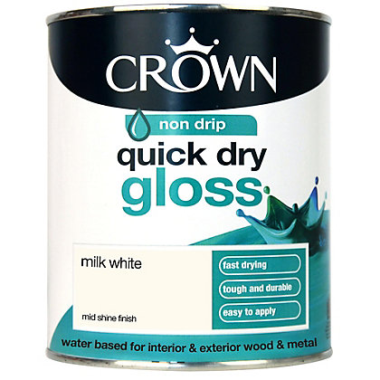 Image for Crown Quick Drying Gloss - Milk White - 750ml from StoreName