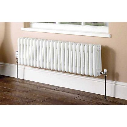 Image for Colonna Horizontal 4 Column Radiator - 302mm x 609mm - White from StoreName