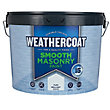 Homebase Weathercoat Pure Brilliant White - Smooth Matt Masonry Paint - 10L