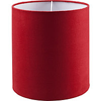Faux Suede Shade - Red - 19cm