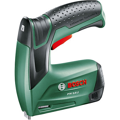 Image for Bosch PTK Cordless Lithium-Ion 3.6V Tacker from StoreName