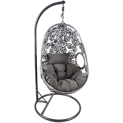 Image for Charles Bentley Rattan Garden Swing Chair In Grey from StoreName