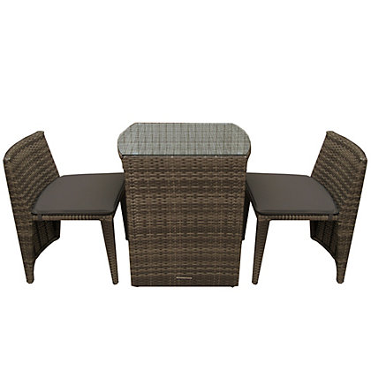 Image for Charles Bentley 2 Seater Rattan Garden  Furniture Set - Brown from StoreName