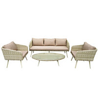 Charles Bentley Premium Rattan Garden Furniture Set - Natural Sand