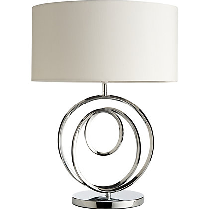 Image for Telly  Table Lamp - Cream and Chrome from StoreName