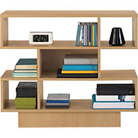 Cubes Shelving Unit - Beech Effect.