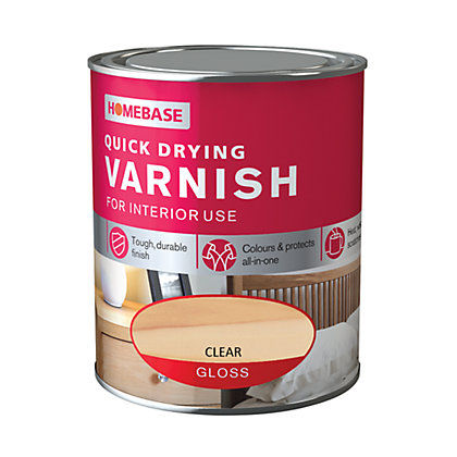 Image for Homebase Quickdry Varnish Gloss Clear - 750ml from StoreName