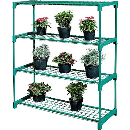 Image for 4 Shelf Tubular Greenhouse Staging - Pack of 2. from StoreName
