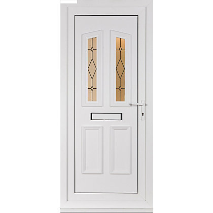 Image for Lancaster 4 Panel Left Hand Hung Screen Print Front Door - 920mm Wide from StoreName