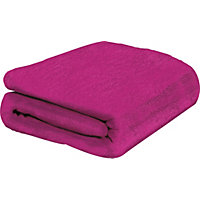 ColourMatch Supersoft Throw - 170x130cm - Funky Fuchsia.