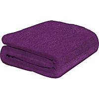 ColourMatch Supersoft Throw - 170x130cm - Purple Fizz.