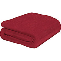 ColourMatch Supersoft Throw - 170x130cm - Poppy Red.