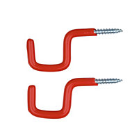 Small Square Utility Hook - Red - 2 Pack