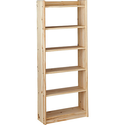 Image for Unfinished Solid Pine 6 Shelf Unit. from StoreName