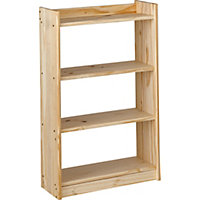 Unfinished Solid Pine 4 Shelf Unit.