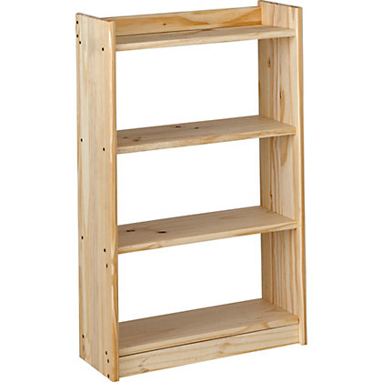 Image for Unfinished Solid Pine 4 Shelf Unit. from StoreName