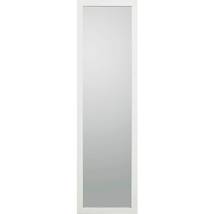 living long wooden mirror white
