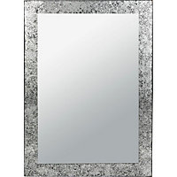 Inspire Silver Crackle Mirror.