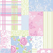 Coloroll Pollyanna Wallpaper - Sky Blue and Pink