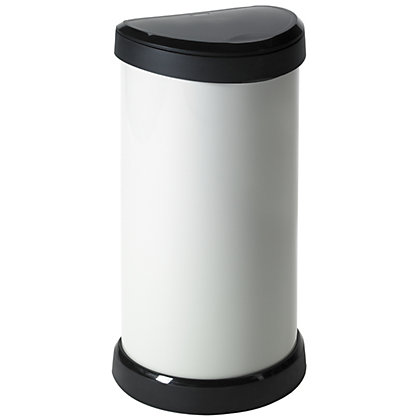 Image for Curver Deco Push Bin - 40L - White from StoreName