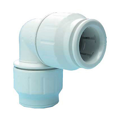 Image for Easyfit 90 Degree Bend Connector -  Plastic - 15mm from StoreName