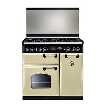 Image for Rangemaster Classic 90 Lidded Dual Fuel Range Cooker - Cream from StoreName