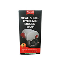 Rentokil Seal and Kill Hygienic Mouse Trap (Pack of 2)