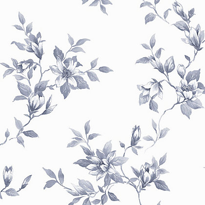 Image for Fresco Clemmie Delft Wallpaper - Blue from StoreName