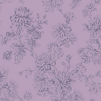 Home of Colour Clara Wallpaper -  Dusky Plum