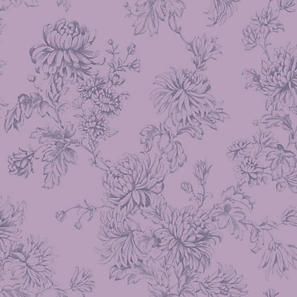 Image for Home of Colour Clara Wallpaper -  Dusky Plum from StoreName