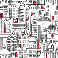 Home of Colour City Wallpaper -  Red & Silver